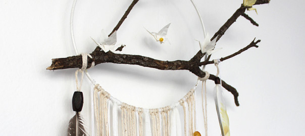 dream catcher branch diy