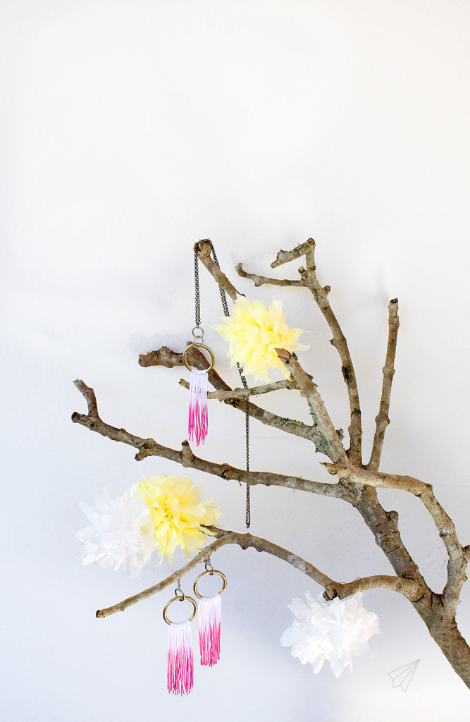 jewellery dipdye with branch