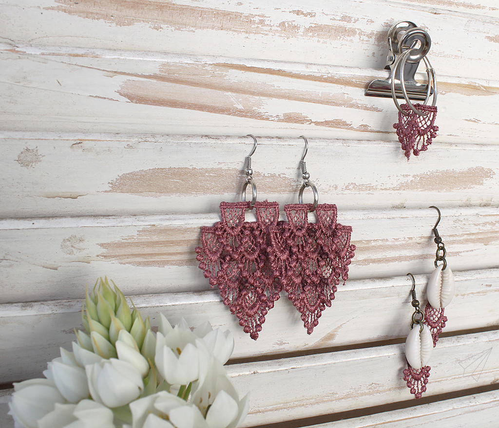 earrings lace all three