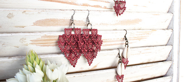 lace earrings diy