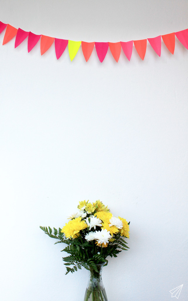 paper bunting flowers