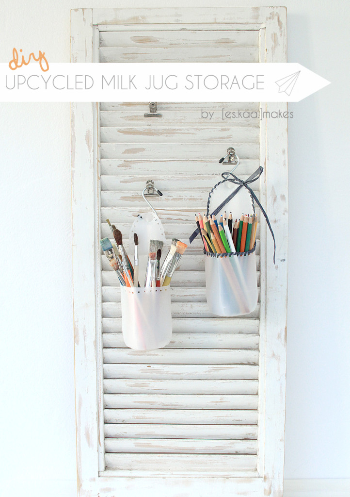 upcycled milk jug storage TITLE