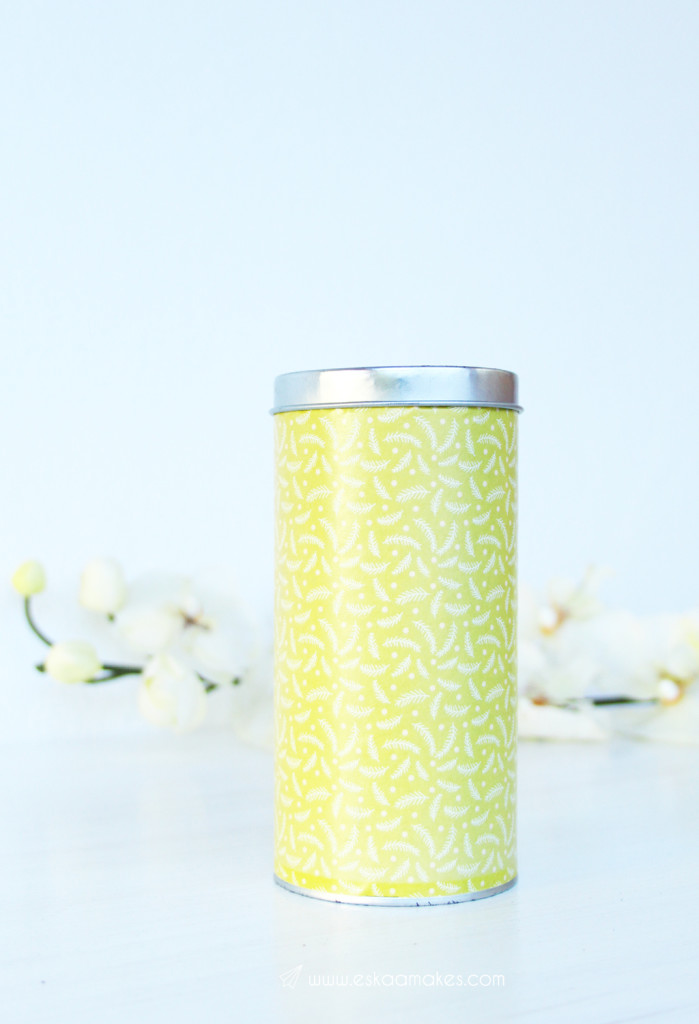 upcycled storage cans yellow