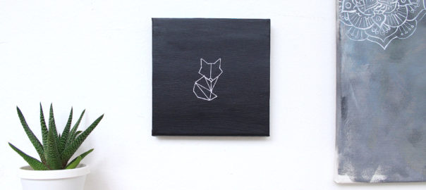 diy stitched geometric fox