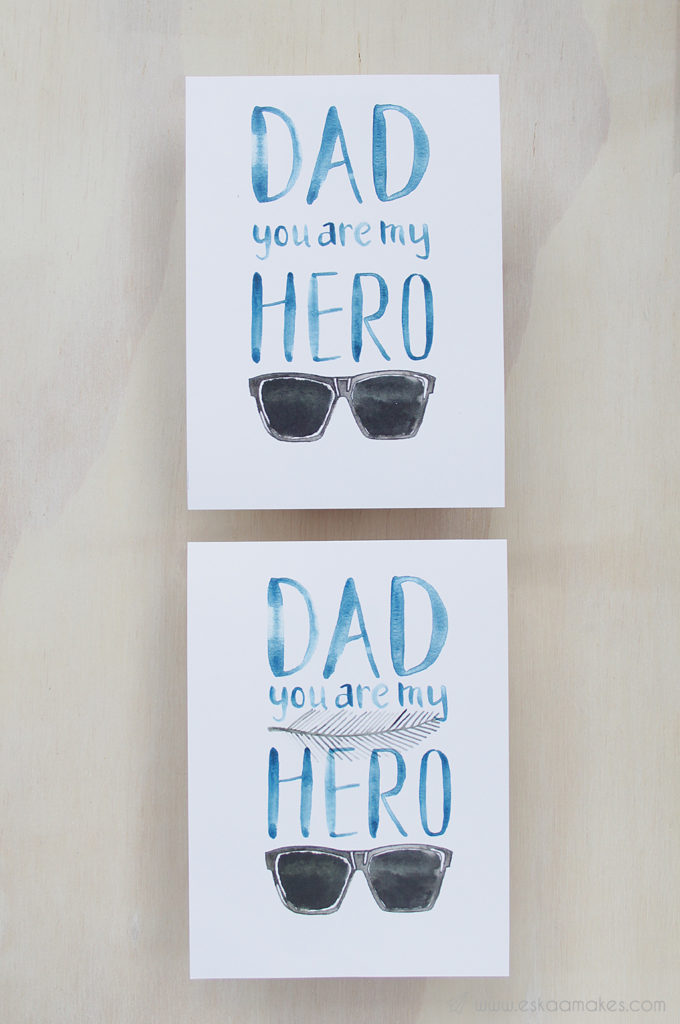 Free printables: Father's Day Hero