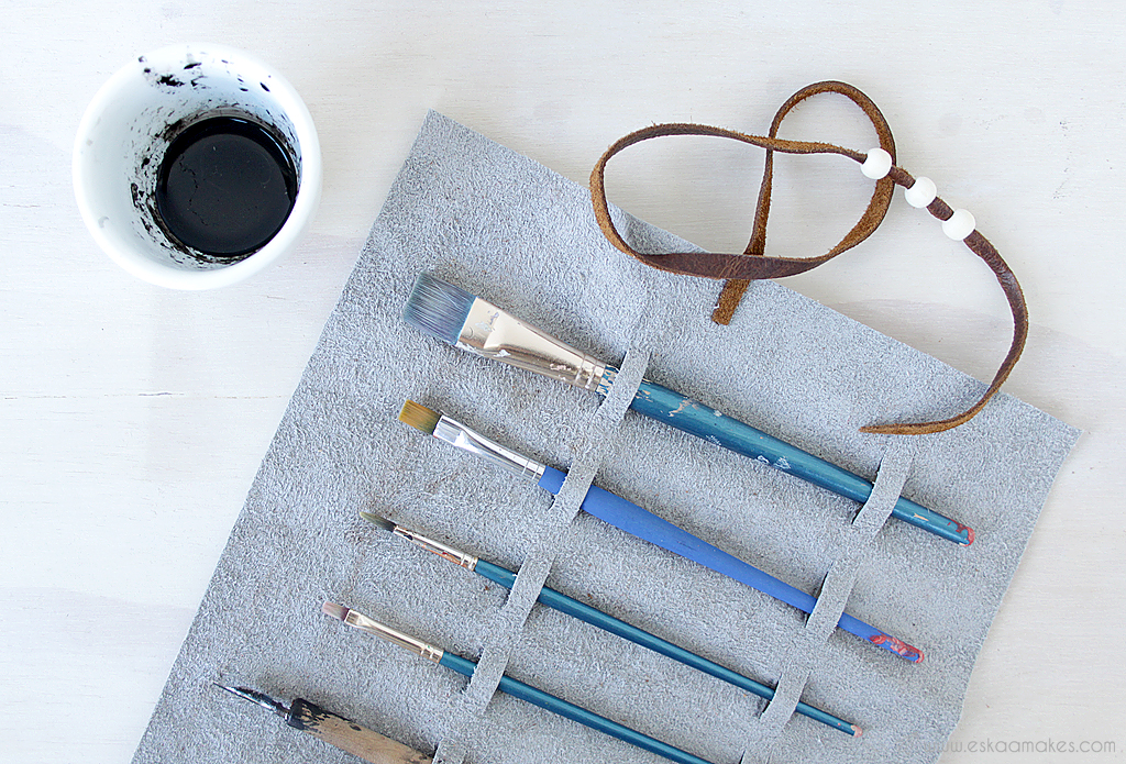 diy craft and art supply pouch