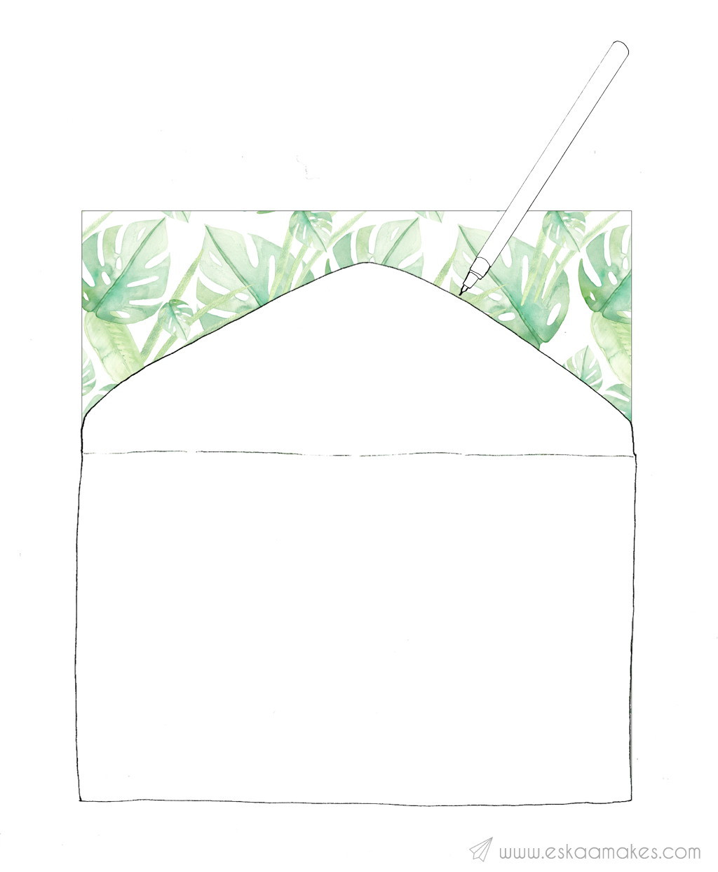 how to make envelope lining 1