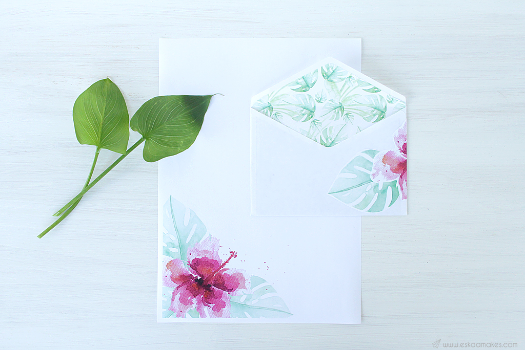 printables tropical hibiscus snailmail 2