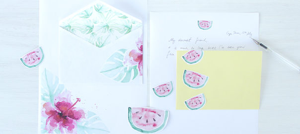 watermelon hibiscus printables snail mail