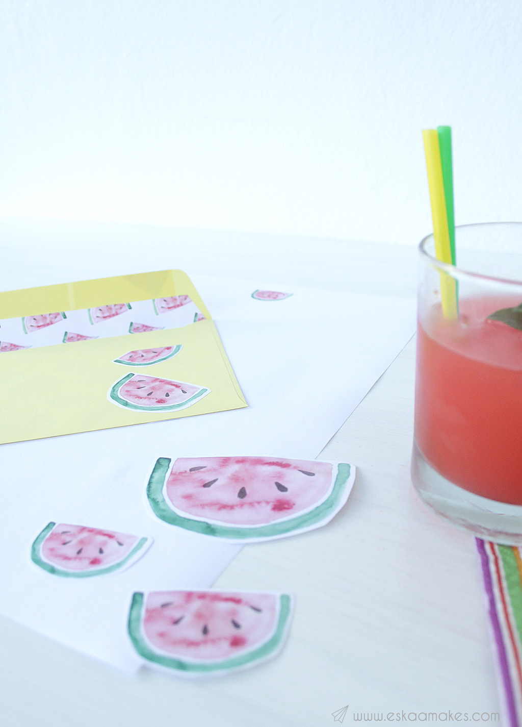 printables watermelon snailmail 1