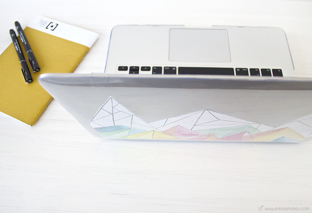 diy laptop incase hard shell printable