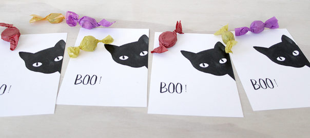 black cat halloween free printable