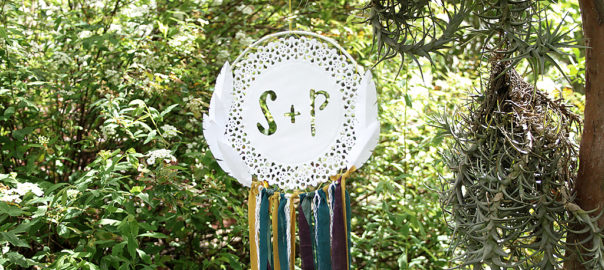 diy paper doily dreamcatcher wedding