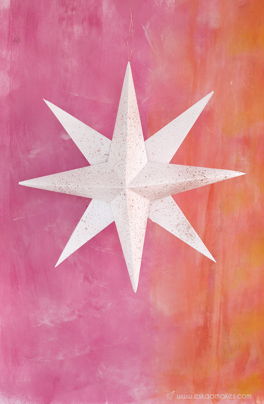 How to make: decorative paper star