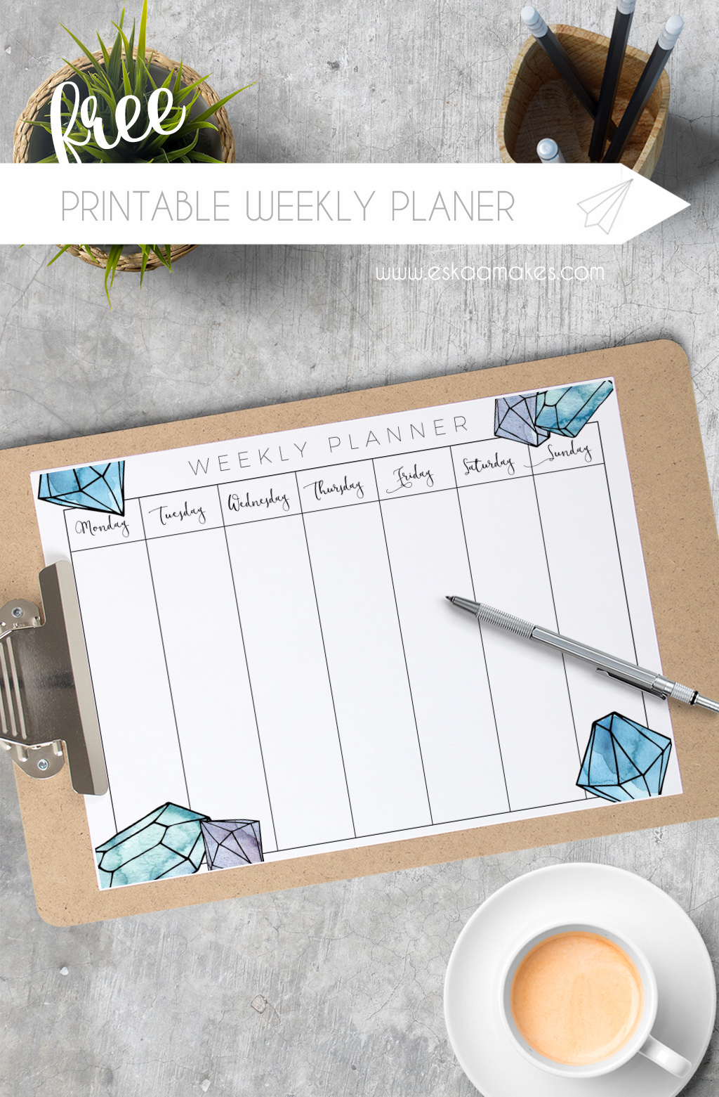 Free Printable: weekly planner for 2017