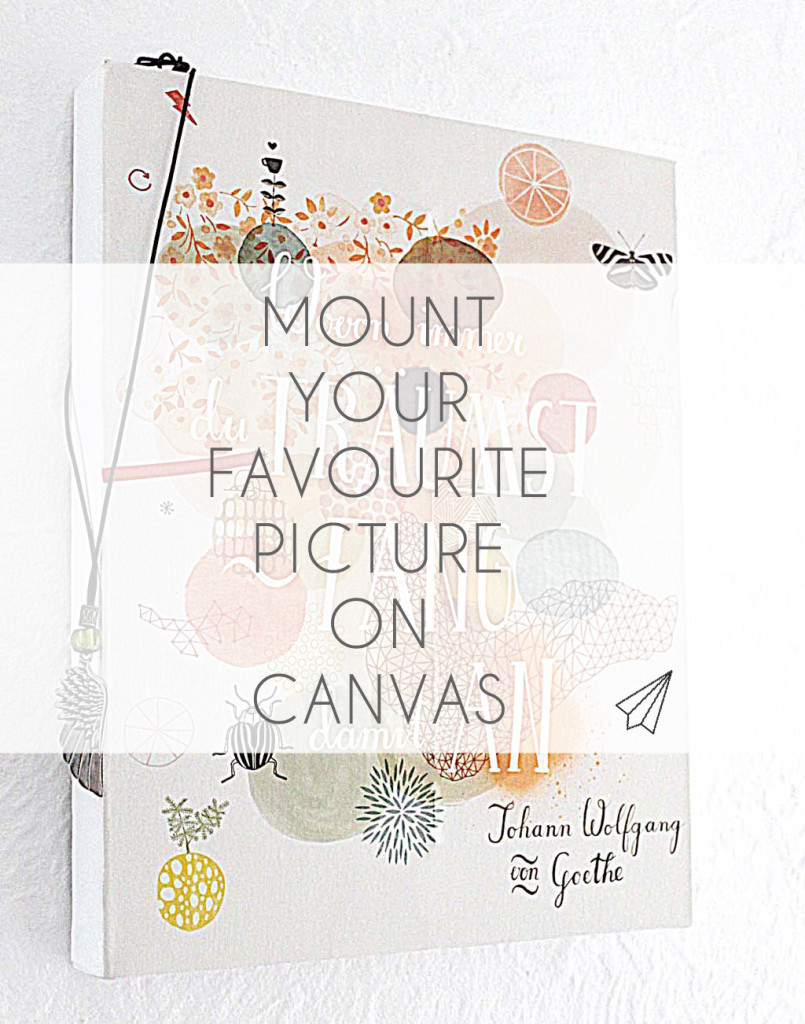 mount your favourite poster_on_canvas