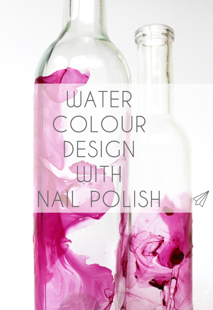 watercolour design nailpolish bottles