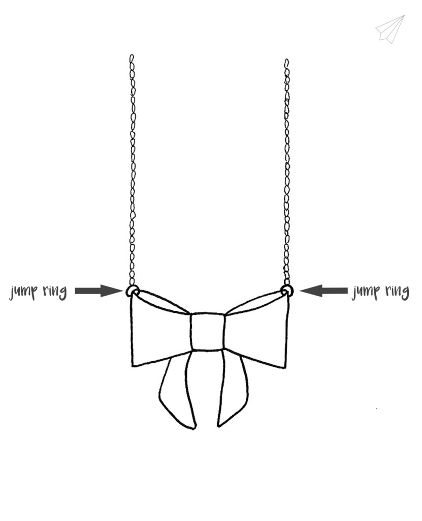 bow necklace step 6