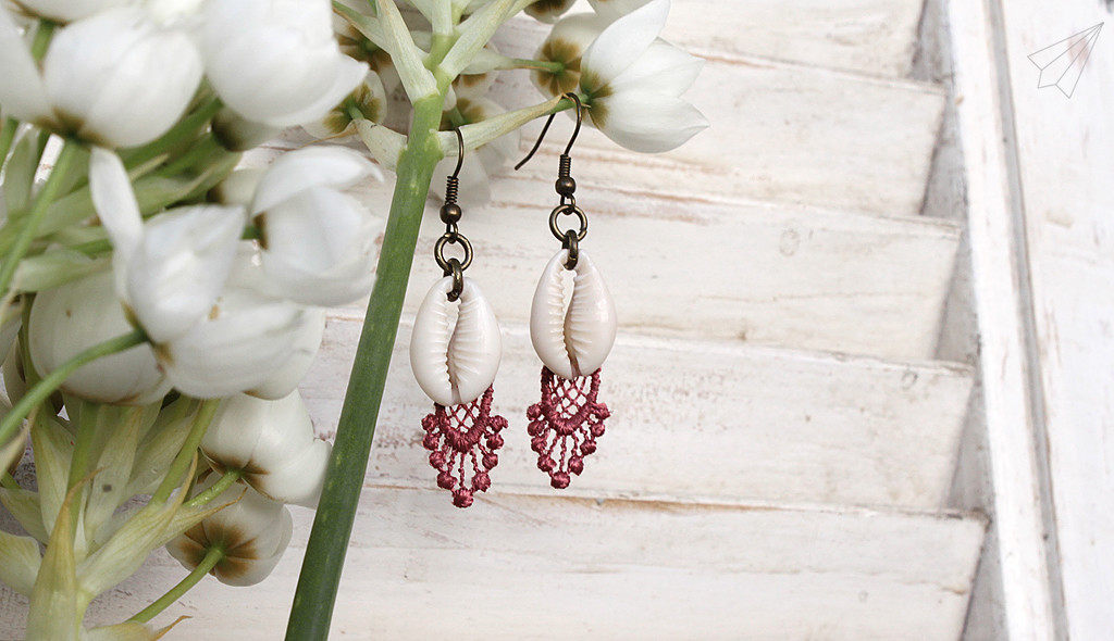 earrings lace shells 2