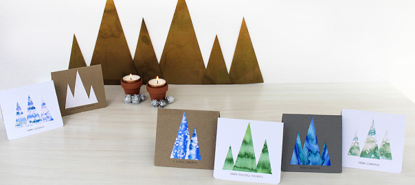 christmas cards tree diy