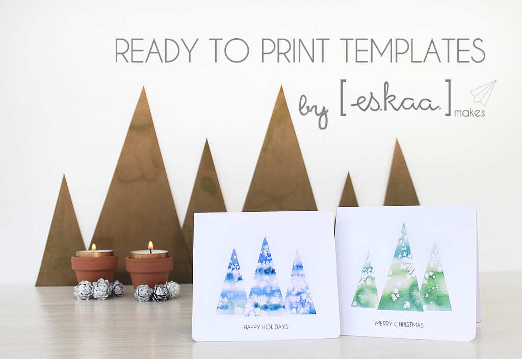 christmas card tree ready to print
