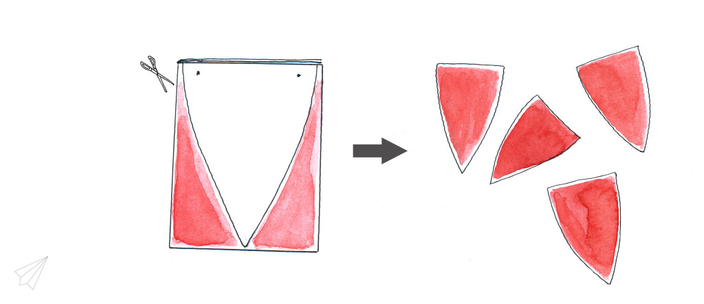 paper bunting cutting
