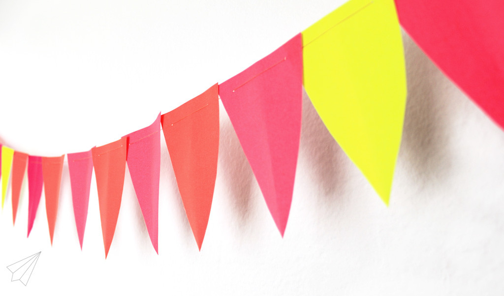 paper bunting detail