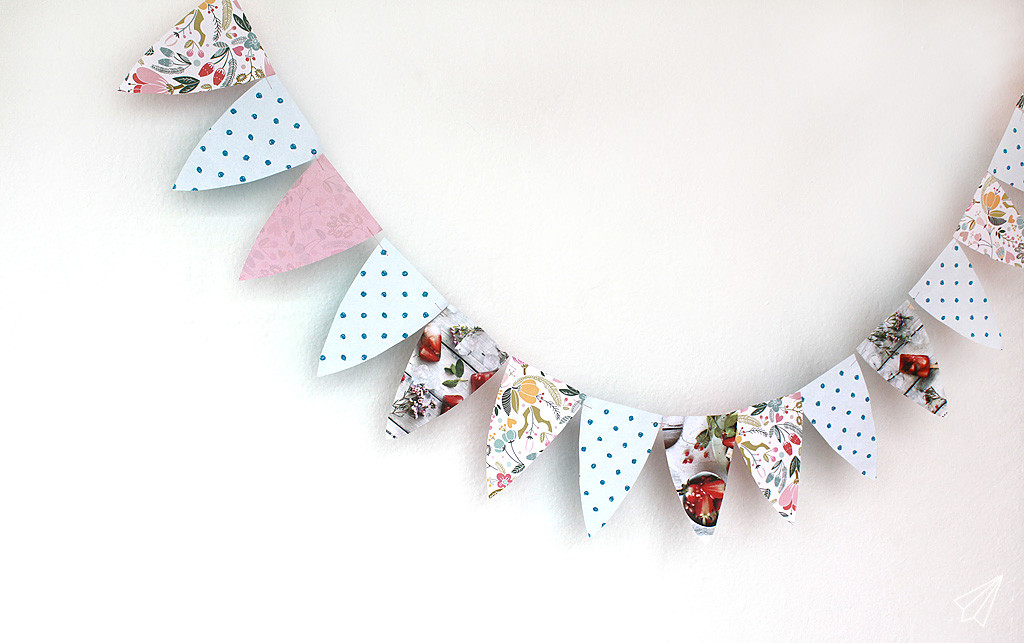 paper bunting garland