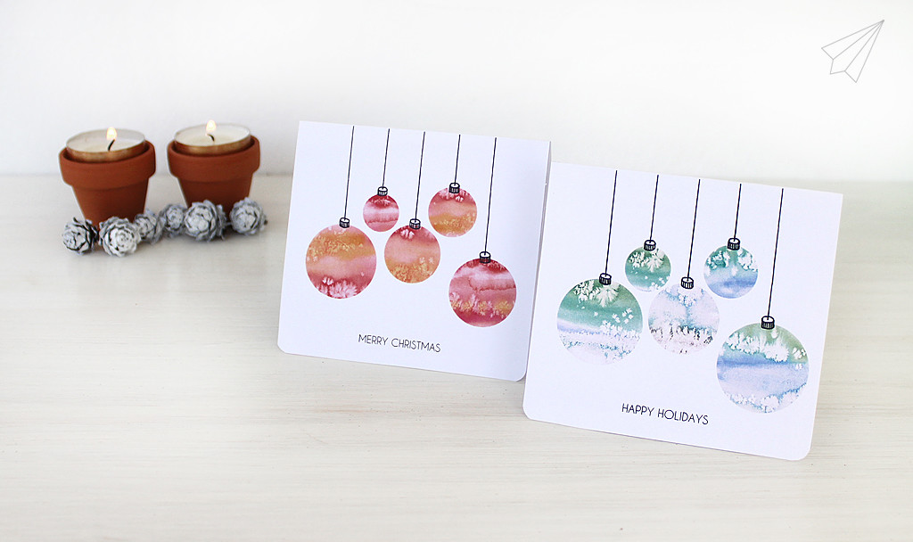 christmas card baubles 1