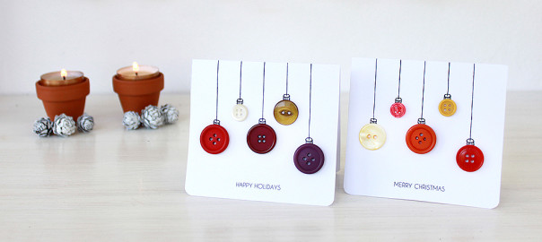 christmas cards baubles diy