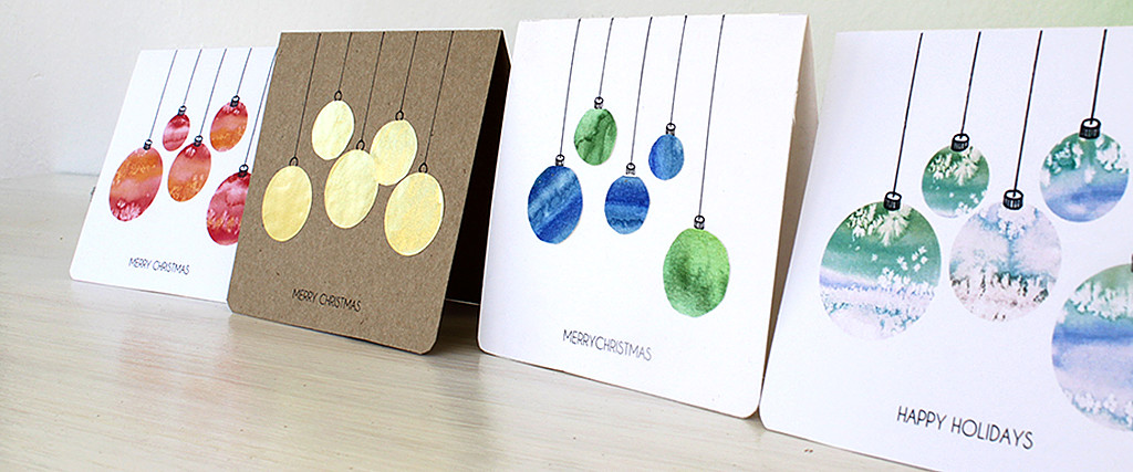 christmas cards baubles feature