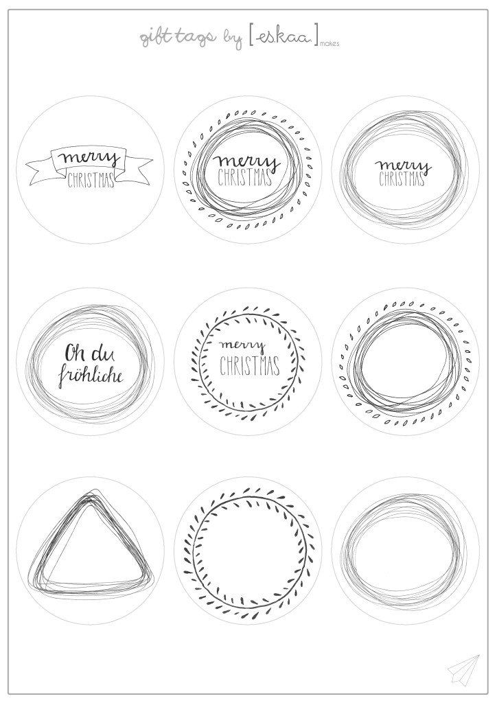 gift tags template by eskaamakes
