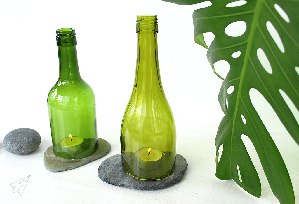 upcycled bottle lanterns 4