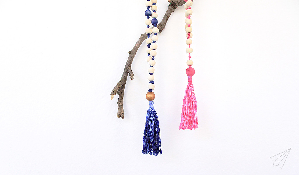 wooden bead tassel necklace 2