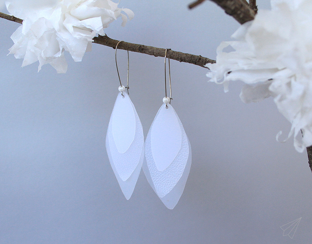 upcycled milkjug earrings 1