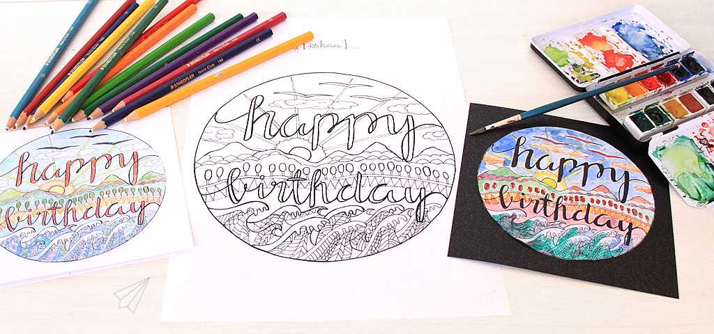 birthday card colour in 1