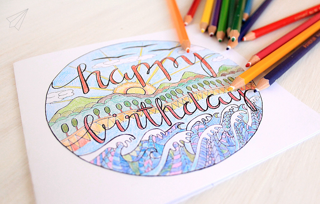 birthday card colour in 2