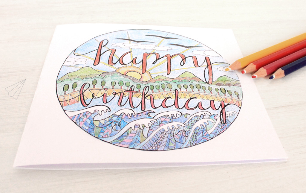 birthday card colour in 5