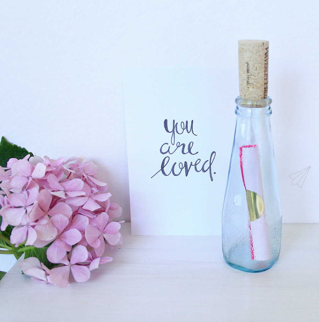 valentine card bottle 3
