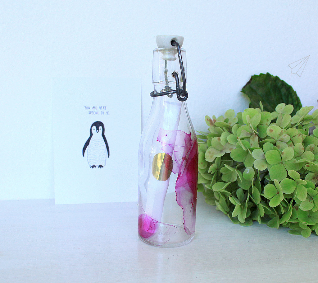 valentine card bottle 5