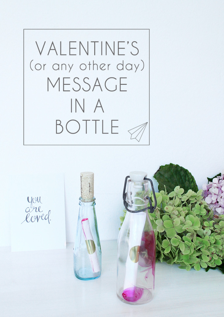 valentine card title bottle