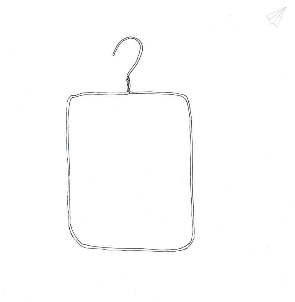 clothes hanger picture frame bend hanger