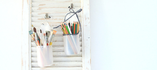 upcycled milk jug storage