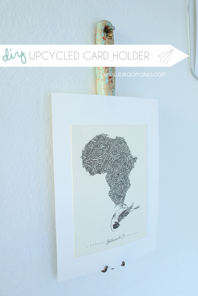 upcycled card holder title