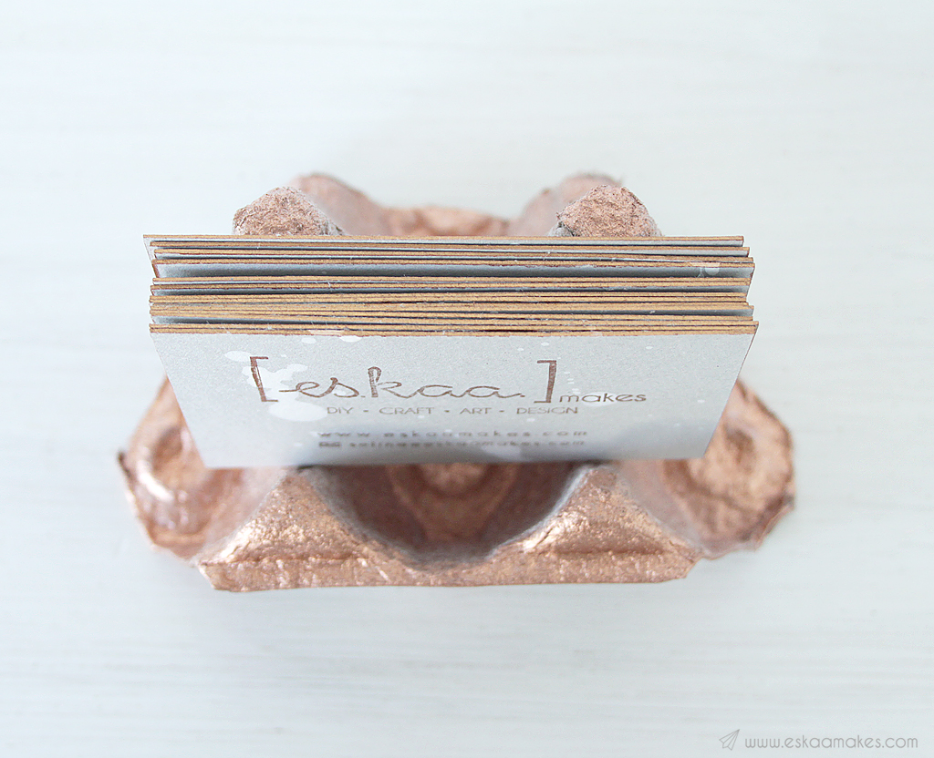 diy upcycled business card holder 1