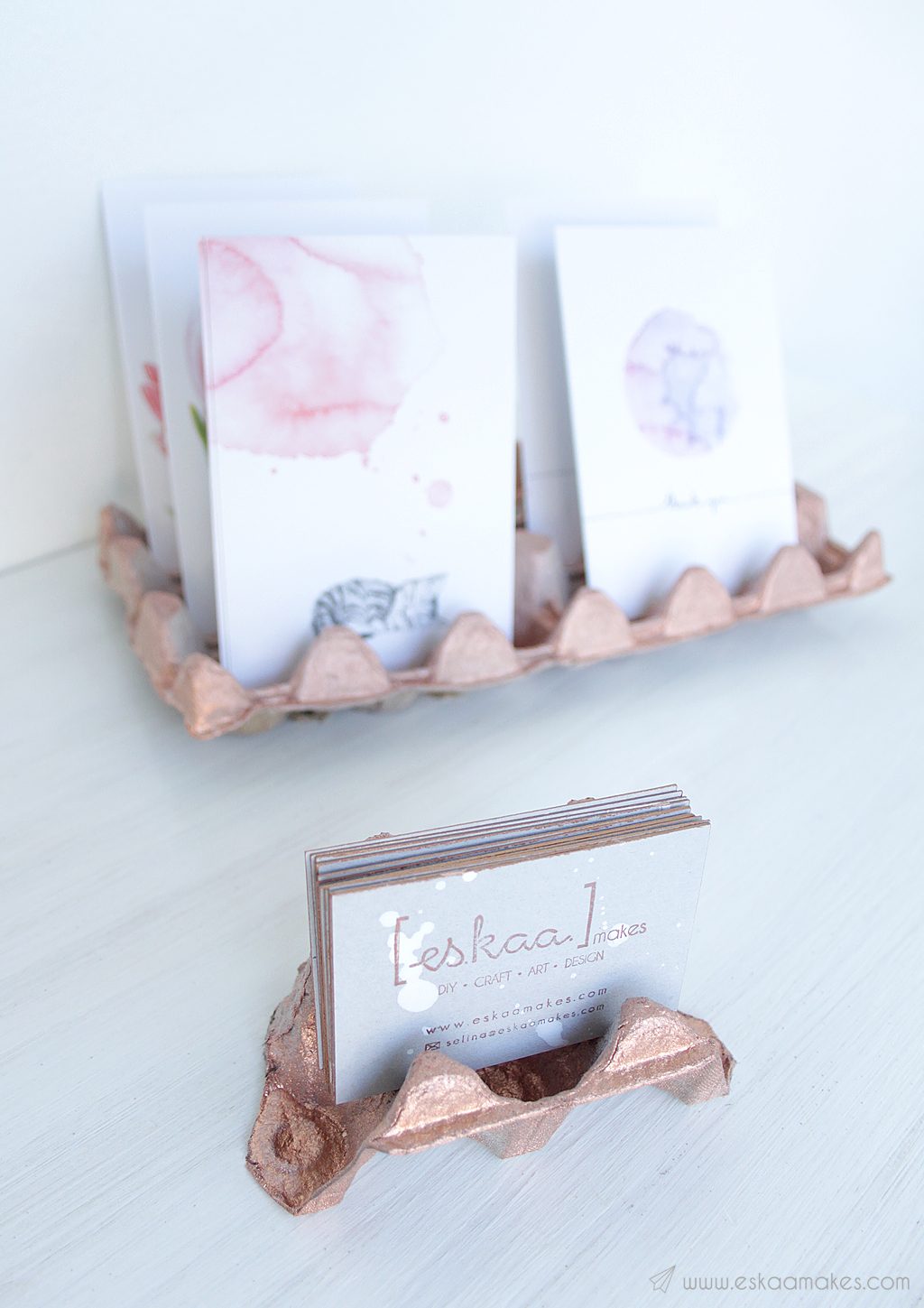 diy upcycled business card holder 2