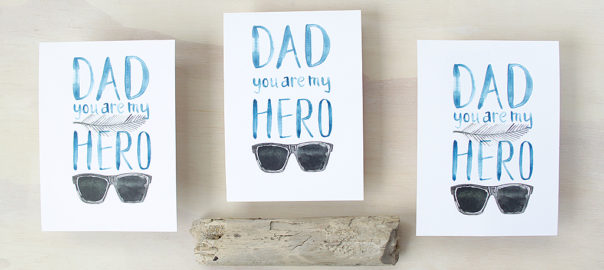 Father's Day printable Hero