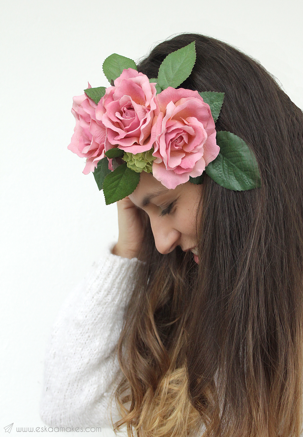 diy faux floral headpiece