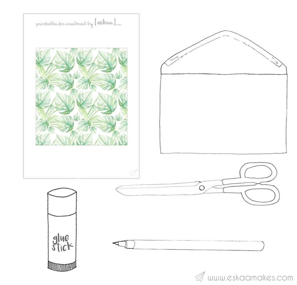 how to make envelope lining material