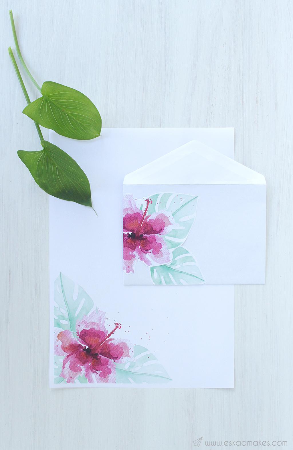 printables tropical hibiscus snailmail 1